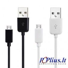 Įkrovimo-duomenų laidas Micro USB-USB 2.0 1m.