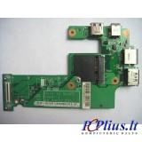Maitinimo-USB-Lan plokštė DG15 09697-1 Dell Inspiron N5010